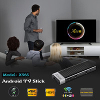 mini-tv-box dongle großhandel-X96S Fire TV Stick Android 8.1 TV-Box Amlogic S905Y2 DDR4 2 GB / 4 GB 16 GB / 32 GB Bluetooth 4K MINI Dongle IPTV Media Player