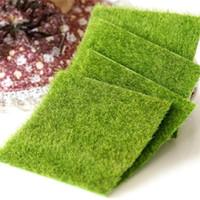 ingrosso tappeto falso-2 pz 15x15 cm tappeto erboso verde prato artificiale tappeti erbosi falso soda casa giardino muschio per la casa decorazione di cerimonia nuziale del pavimento C19041302