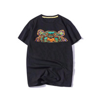 Wholesale summer clothes for women shorts resale online - Fashion Summer Designer T Shirts For Men Tops Tiger Head Letters Embroidery T Shirt Mens Clothing Brand Short Sleeve Tshirt Women Tops S XL