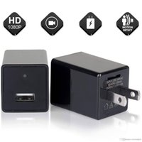 câmera de movimento de parede venda por atacado-Preto Portátil Wi-fi HD 1080 P USB Câmera Adaptador de Parede USB Carregador de Detecção de Movimento Cam