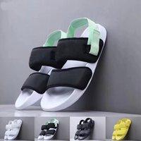 ingrosso uomini neri di sandali gialli-Nuovi sandali del progettista degli uomini delle donne di estate sandali neri gialli del tory di modo Pantofole del partito della spiaggia di lusso della moda Upstream scorre i pattini