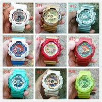 Wholesale dual color watches for sale - New NEW style brand men s wristwatch Sport dual display GMT Digital LED reloj hombre Military watch relogio masculino