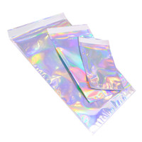 Wholesale Laser Color Aluminum Foil Self Adhesive Retail Bag Candy Cookies Mylar Foil Packing Pouch for Grocery Crafts Packaging express bag LX2318