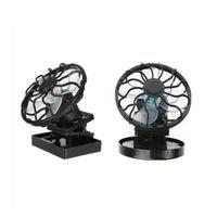 Wholesale power mini fan for sale - Group buy Portable Solar Powered Cooling Fan Clip On Mini Fan Solar Panel Cell Beach Camping Hiking Climbing Solar Fan Outdoor Gadgets LJJZ497