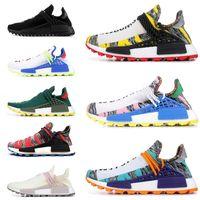 73699d8ff8fda 2019 Human race Hu trail x pharrell williams Nerd men running shoes black  white cream SOLAR PACK mens trainers for women sports sneaker
