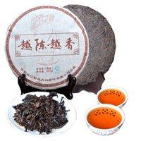 Wholesale xiang tea for sale - Group buy 357g Ripe Pu Er Tea Yunnan Yue Chen Yue Xiang Pu er Tea Organic Pu er Red Puer Oldest Tree Natural Pu erh Black Puerh Tea Cake