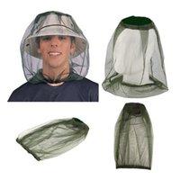 yürüyüş kapakları toptan satış-Açık Yürüyüş Cibinlik Kap Yaratıcı Kamp Seyahat Başkanı Böcek Geçirmez Kapaklar Siyahımsı Yeşil Basit Moda Balıkçılık Şapka TTA1082
