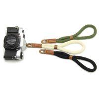 slr kameralar için el kayışı toptan satış-1 Adet Kamera Askısı Bilek Kayışı Sıcak Satış El Naylon Halat Kamera Bilek sapanlar Leica Dijital SLR Kamera Için Bilek Bandı İpi