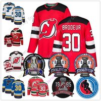 Wholesale man blue hoody for sale - Group buy Martin Brodeur Jersey With Stanley Cup Hall Of Fame Patch New Jersey Devils St Louis Blues Jerseys Hoody