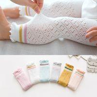 strumpfhosen weiße baumwolle großhandel-Sommer Baby Leggings Baby Mädchen Kind Baumwolle Legging weiß rosa Strumpfhosen für Kinder Mädchen Mesh Leggings für 0-4 Jahre alt