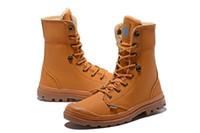 ingrosso scarpe da trekking di qualità-Miglior qualità 2019 New Style Palla Mens alte scarpe di tela dei nuovi Homme stivali all'aperto casuale comodo Hiking Boots Scarpe da ginnastica