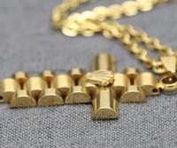 anhänger löwe großhandel-Herren Full Iced Strass Eine Krone Lion Tag Halsketten Anhänger Hip Hop kubanischen Kette Hip Hop Halskette Gold Schmuck für Männer
