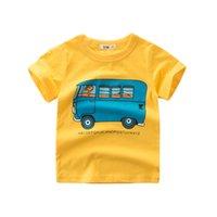 ingrosso autobus per i bambini-Bus Neonati magliette per bambini magliette in morbido cotone top cool bambini vestiti per bambini abbigliamento T-shirt a maniche corte di alta qualità nuova moda estate
