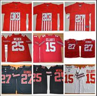 camisetas de elite americana al por mayor-Hombres Ohio State Buckeyes Archie Griffin Nombre de juego cosido Élite Legend American College Football Jersey Tamaño S-3XL