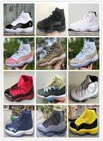 11 s white gold großhandel-2018 neue Ankunft heißer Verkauf 11 x 11 s Männer Basketball Schuhe neue Farbe rot schwarz weiß grau 11 x 11 s Höhe geschnitten Männer Basketball Schuhe Größe: 40-47.