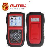 escáner obd2 eobd al por mayor-Autel AutoLink AL439 Herramienta de Diagnóstico del Coche OBD2 EOBD Lector de Código Automático OBD2 Escáner de Diagnóstico Probador Eléctrico Autel Scanner
