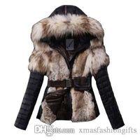 abrigos de mujer en línea al por mayor-Chaquetas de invierno de moda para mujer, abrigos de piel delgada con capucha, diseñador de marca corto para damas, abrigos de lujo al aire libre, fajas, abrigo en línea