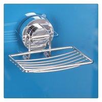 paniers à savon en métal achat en gros de-Porte-savon en acier inoxydable Panier avec porte-ventouse robuste Montage mural Accessoires de salle de bains