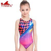 trajes de baño de color sólido para niños al por mayor-Yingfa 2018 traje de baño para niños, niños, natación, traje de carreras, competencia, trajes de baño, niñas, profesional, nadar, niño sólido