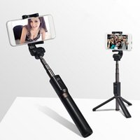 Wholesale cell phones accessories for sale – best Bluetooth selfie stick tripod bracket mobile phone camera product extended selfie stick Cell Phone Photograph Accessories