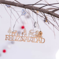 Wholesale christmas doors decorations for sale - Group buy Christmas Woodiness Pendant Old Man Snowman Modeling Door Pendants Deer Tree Multi Styles Room Wall Decoration Articles hy L1