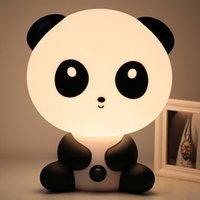 niños luces de noche al por mayor-Enchufe Lámparas de dormitorio para bebés Luz de noche Mascotas de dibujos animados Panda Unicornio Sleep LED Kid Lámpara Bombilla Lámparas de mesa para niños Regalos Luz cálida de noche