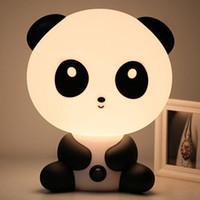 nachtlampe einhorn großhandel-Stecker Baby Schlafzimmer Lampen Nachtlicht Cartoon Haustiere Panda Einhorn Schlaf LED Kid Lampe Tischlampen Für Kinder Geschenke Warmes Nachtlicht