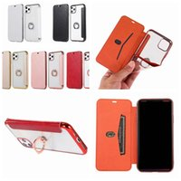 Wholesale galaxy a20 wallet case for sale – best Finger Metal Ring Leather Wallet Case For Galaxy S10 Note A70 A50 A10 A20 Metallic Slim Luxury Plating Chromed Ultra thin Holder Cover