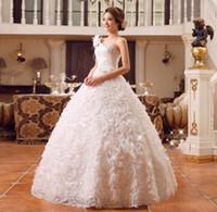 photos de mariage coréen achat en gros de-Robe de mariée une épaule nouvelle robe de mariée de style coréen, plus la taille