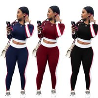ingrosso set completo di joggers-Emboridery Lettera Tuta Sportiva T Shirt Corta Pantaloni 2 Pezzo One Set Jogger Tuta Casual Moda Donna Abbigliamento Domestico 40nz E1