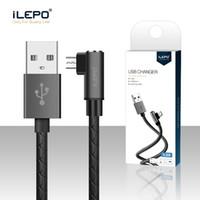 ich kabel großhandel-Micro USB Schnellladeadapter Nylon Geflochtenes Microusb Kabel iLepo QC3.0 USB Datenkabel für Samsung Huawei Xiaomi LG i Phone