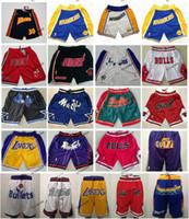 ingrosso reti magiche-Pantaloncini Just Laker Don Guerriero Heat Bulls Nuggets Reti Celtic Jazz Magics Miami Raptor 76ers Rockets Bullets Knicks Basket Basket Pant