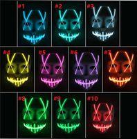 ingrosso maschere per il nuovo anno-LED Mask maschera di divertente da The Purge elezione anno Grande per Festival Cosplay Halloween 2019 Anno nuovo Cosplay