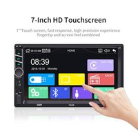 Wholesale Car Multimedia Player Inch Din Touch Screen Stereo FM Radio Bluetooth Mp5 Player Supports for Android IOS Image Connection car dvd