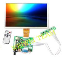 tarjeta hdmi lcd al por mayor-Pantalla de 9 '' pulgadas para Raspberry Pi 3 Pantalla LCD AT090TN10 TFT Monitor + HDMI Controlador de la placa del controlador de entrada VGA para Raspberry Pi