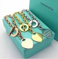 Wholesale steel t bars resale online - Have stamps Popular fashion brand T Love designer Bracelets for lady t1 tiffany Women Party Wedding Lovers gift Luxury Jewelry
