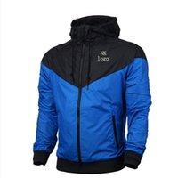 мужская одежда оптовых-Мужская дизайнерская куртка мода прилив дизайнер ветровка роскошная куртка NK горячей продажи капюшоном спортивная верхняя одежда работает осень-весна S-3XL