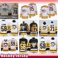 нэшвилл хоккейные майки оптовых-Pittsburgh Penguins Hockey Джерси Сидни Кросби Practice Летанг Евгений Малкин Джек Guentzel Nashville Predators Пекка Ринне P.K. Subban