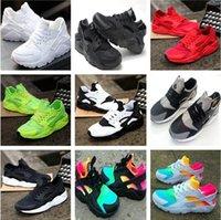 erkek kızlar gündelik beyaz ayakkabılar toptan satış-Yüksek Kalite Sıcak Satış Yeni Moda Büyük Çocuk Erkek kız Kadın Erkek Örgü Ayakkabı Sneakers Rahat Ayakkabılar Severler Ayakkabı Nefes Siyah Beyaz Ayakkabı