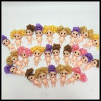 baby mädchen geschenk geschenk-sets groihandel-Großhandel-pelzigen Baby Kuchen Backen Puppe Mädchen Spielzeug Geschenke 3,5 Zoll Barbie Toy Set Puppe ohne Kleidung
