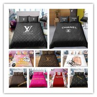 conjuntos de edredão de casal venda por atacado-Fundamento luxuoso impressão definido capa de edredão set Single King Duplo Tamanho 2/3 pcs de roupas de cama