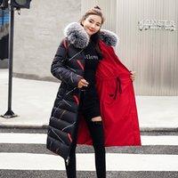 mulheres casaco jaqueta dupla venda por atacado-Photo Shoot 2018 Wear New Style Outono E Inverno Double-sided jaqueta de algodão acolchoado longo roupas femininas over-the-joelho capa