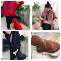 Wholesale classic wear clothing online - Moon And Dog clothes pet and mom Matching warm fleece outwear Winter Dog Coats Soft Fleece Wear with letter MMA1189