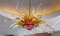 Murano Glass Flower Chandelier Italy LED Pendant Light Living Room Furniture Art Deco Hand Made Blown Glass Chandelier Lighting