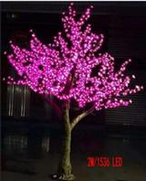 ingrosso ha condotto l'albero artificiale della ciliegia chiara-Artificiale ciliegio lampada 2m alta 1536pcs LED casa giardino simulazione albero luce decorazione esterna albero lampada Natale decorazione di nozze