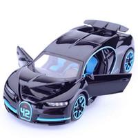 niños jugando coches al por mayor-1:32 Simulación Bugatti Chiron Colección Modelo de Aleación de Coches de Juguete Diecast Metal Coche Juguetes Para Adultos Niños J190525