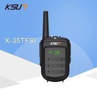 telsiz 8w toptan satış-Walkie Talkie KSUN X-35TFSI Walkie Talkie 8W El Pofung UHF 8W 400-470MHz 128CH Çift Yönlü Taşınabilir CB Telsiz