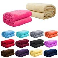 ingrosso biancheria da letto di corallo-l'autunno e l'inverno flanella di lana calda coperta di corallo molle coperta in pile di letti adulto copriletto solida copertura divano letto