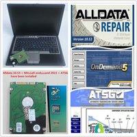 alldata otomatik tamir hdd toptan satış-Daignosis aracı D630 4 GB Oto Tamir Alldata ile kullanılan Laptop Soft-ware V10.53 + Mit 2015 + ATSG 3 in 1 TB HDD DHL ücretsiz