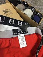 bolsa masculina sexy venda por atacado-2018 homens Marca Sexy Underwear Seamless Cueca Boxer Homens Homens de algodão Shorts Boxer Homme Pouch Boxers Underware grandes